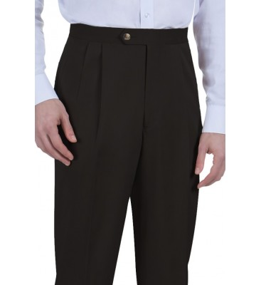 Tee Melange  (Poly Stretch, Side Pockets/Pleated Front, 1 Color)