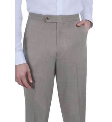 Grant Sharkskin  (Poly, Side Pockets/Flat Front, Limited Stock)