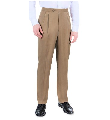 Van Gab Twill w/Stretch (Side Pockets/Pleated Front)